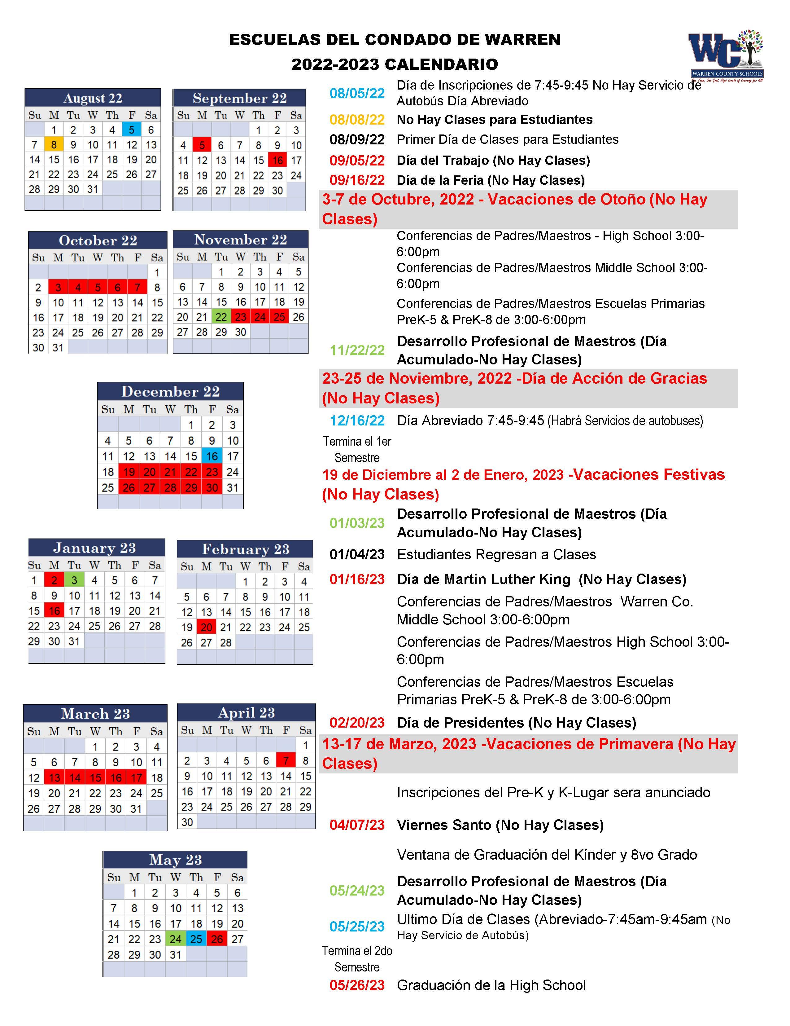 Durham Public Schools Calendar 2022 2023.All News Warren County Schools